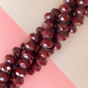 12mm Faceted Dyed Howlite Rondelle Strand - Christine White Style