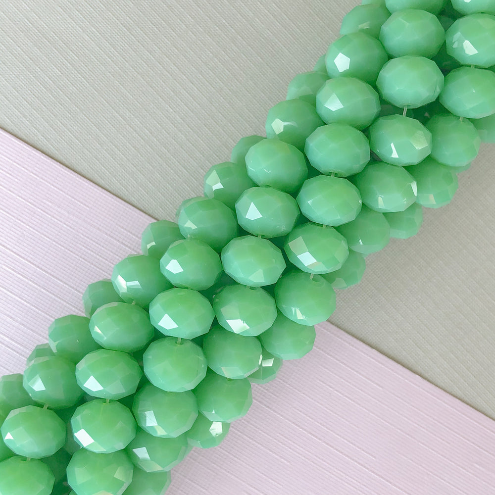 10mm Mango Matte Dyed Jade Rounds Strand - Christine White Style