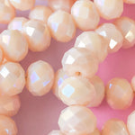 8mm Natural Faceted Opal Rounds Strand - Christine White Style