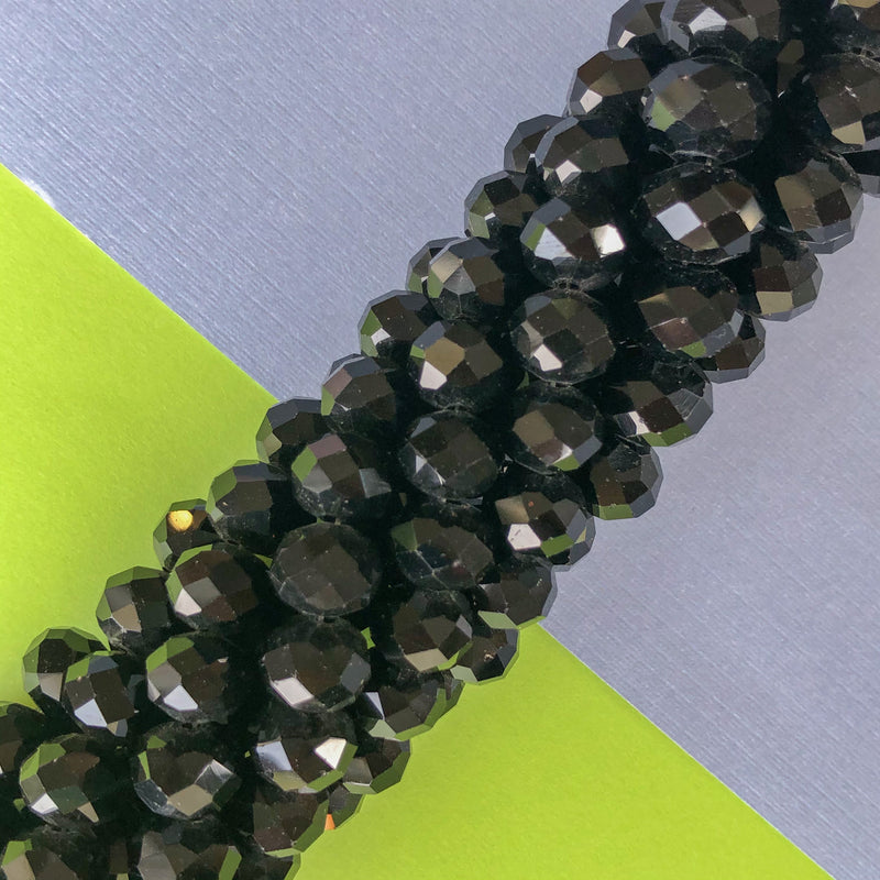 Crystal Rondelle Bead Strand - Opaque Calypso - Christine White Style
