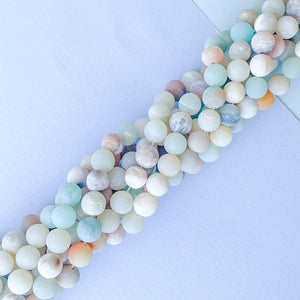 Load image into Gallery viewer, 8mm Matte Amazonite Rounds Strand