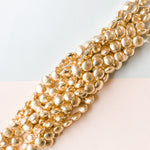 12mm Gold Brushed Puffed Coin Strand