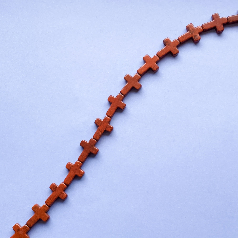 16mm Brown Dyed Magnesite Cross Strand