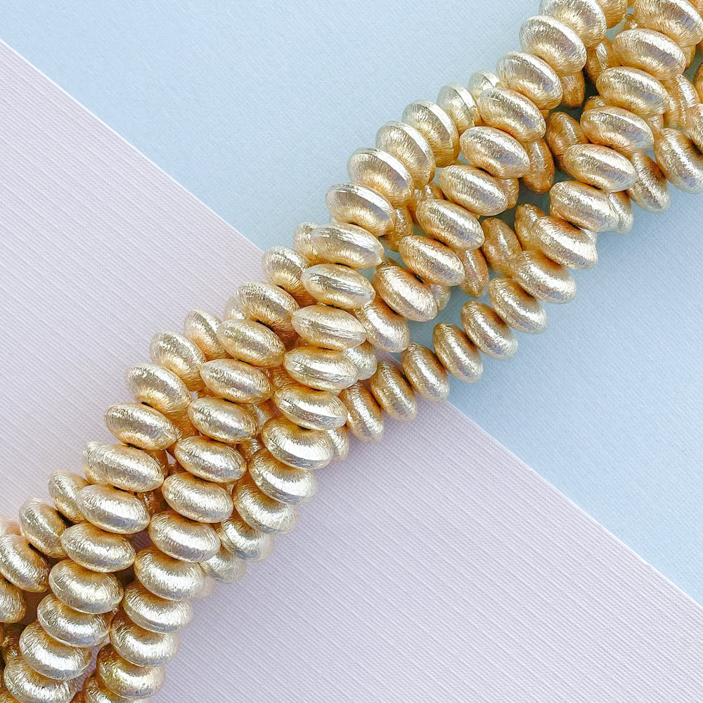 10mm Brushed Gold Saucer Strand