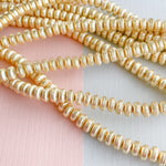 6mm Brushed Gold Saucer Strand