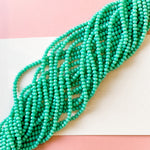 4mm Calypso Green Chinese Crystal Strand