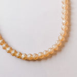 10mm Matte Peach Chinese Crystal Rondelle Strand