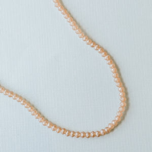 6mm Matte Peach Crystal Rondelle Strand
