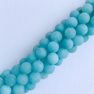 Load image into Gallery viewer, 8mm Matte Calypso Dyed Jade Rounds Strand