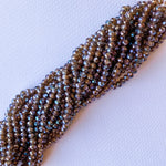 6mm Iridescent Chocolate Faceted Chinese Crystal Strand