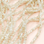 4mm Arctic White Two-Tone Crystal Strand - Christine White Style
