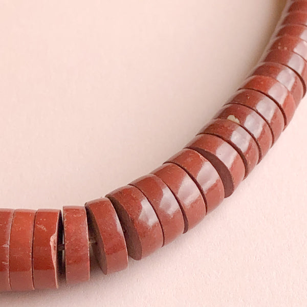 Load image into Gallery viewer, 4-12mm Graduated Red Jasper Strand - Christine White Style