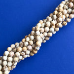 6mm Faceted Natural Howlite Rounds Strand