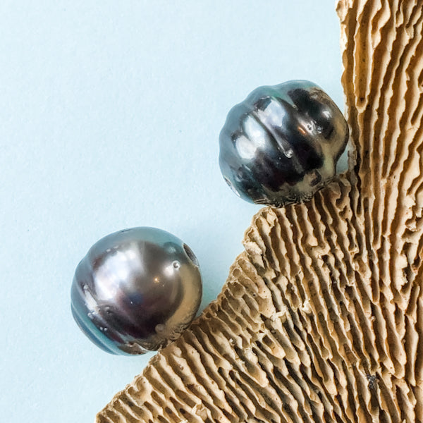 12-14mm Tahitian Large Hole Pearl - 2 Pack