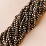 8mm Mink Opaque Faceted Chinese Crystal Strand