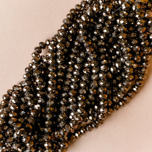 Load image into Gallery viewer, 10mm Mink Opaque Faceted Chinese Crystal Strand