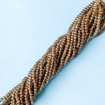 4mm Iridescent Chocolate Brown Crystal Rondelle Strand