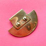 36mm Shiny Brass Shield Pendant
