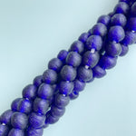 10mm Admiral Blue Recycled African Glass