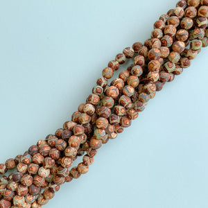Load image into Gallery viewer, 6mm Smooth Matte DZI Tortoise Agate Rounds Strand