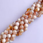 12mm Smooth Blossom Agate Rounds Strand