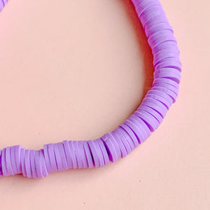 Load image into Gallery viewer, 6mm Wisteria Polymer Clay Strand