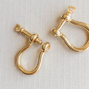 10mm Gold Saddle Screw Clasp