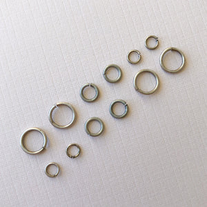 Distressed Silver Open Jump Rings - Pack of 20 - Christine White Style