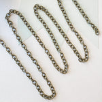 8mm Plated Antique Bronze Oval Cable Chain