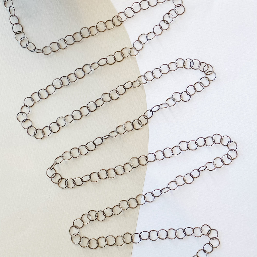 9mm Antique Bronze Electro-Plated Round Chain