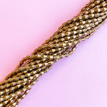 8mm Brass Faceted Marquis Beads