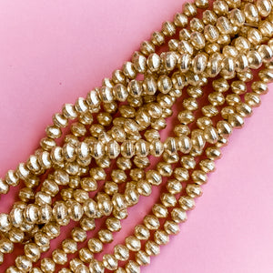 8mm Brushed Gold Bicone Strand