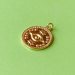 16mm Electroplated Gold Mystic Eye Charm