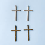 Thin Pewter Crosses - Pack of 2