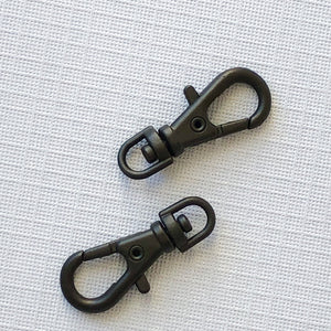 Matte Black swivel Lobster Claw Clasp 2 pack