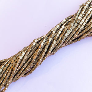 3mm Rectangular Brass Strand