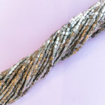 3mm Silver Rectangular Brass Strand
