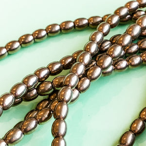 5mm Brass Oval Rice Strand