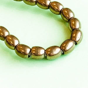 Load image into Gallery viewer, 5mm Brass Oval Rice Strand