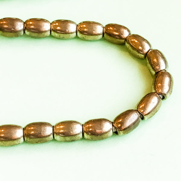 Load image into Gallery viewer, 5mm Gold Oval Rice Brass Strand