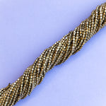 1mm Gold Rounded Rectangle Strand