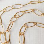 18mm Shiny Gold Rounded Paperclip Chain