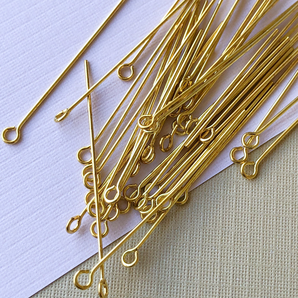 "1.5"" Gold Eye Pin - 40 Pack"