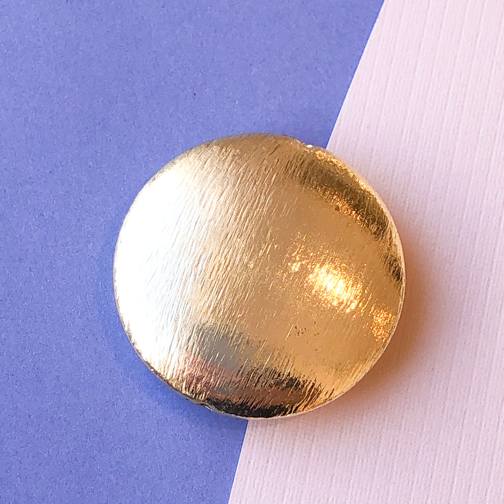 35mm Brushed Gold Disc - 2 Pack