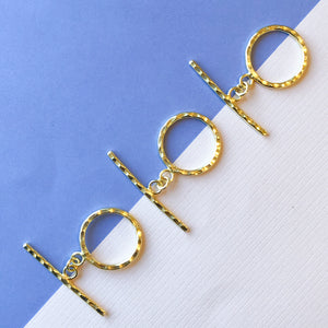 26mm Gold Hammered Toggles