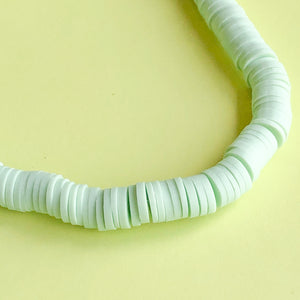 6mm Green Tea Polymer Clay Strand