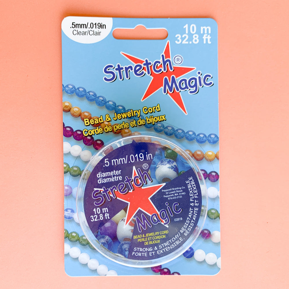 Stretch Magic Clear .5mm Spool - 10m - Pack of 2 - Christine White Style