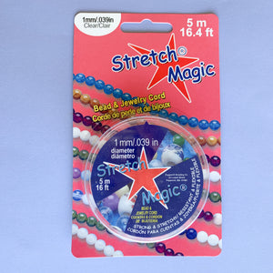 1mm Clear Magic Stretch - 5M 2 Pack - Christine White Style