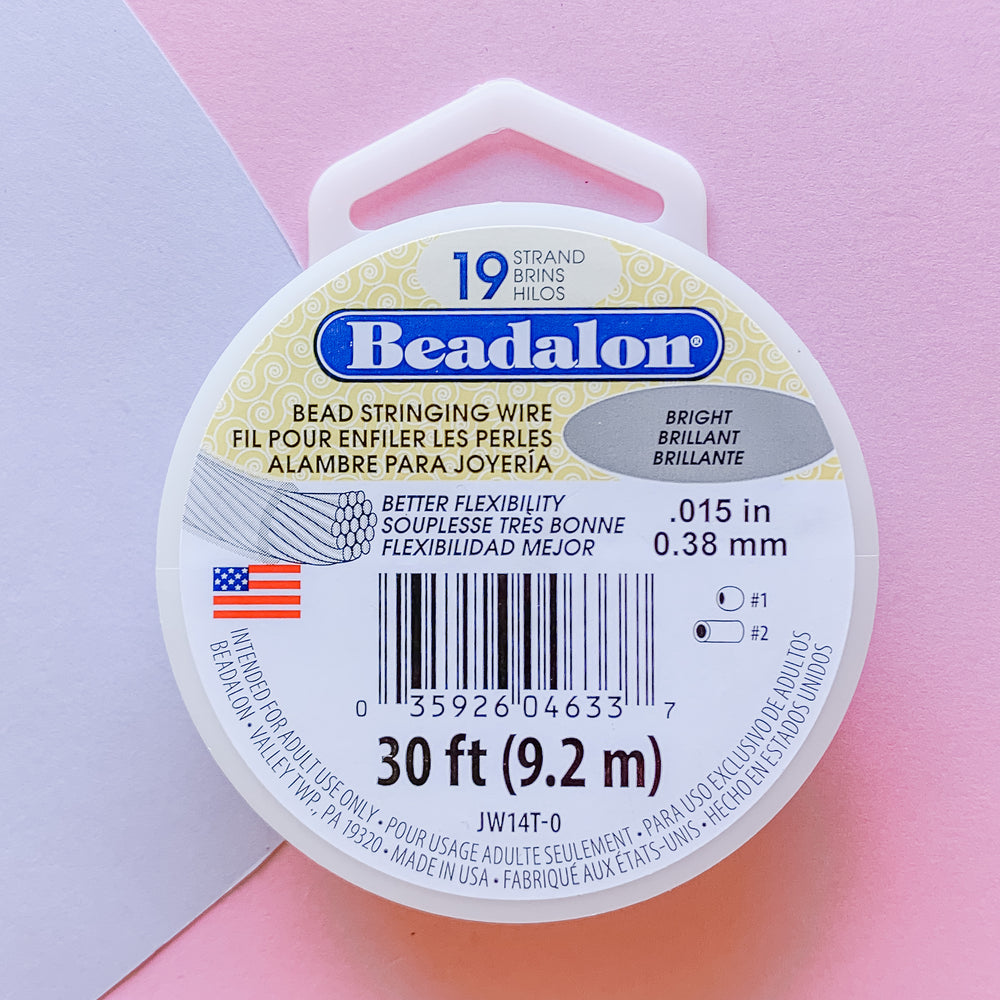 Load image into Gallery viewer, .015 Bright Beadalon Stringing Wire -30 Ft - Christine White Style