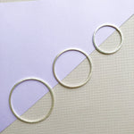 Brushed Silver Circle - 4 Pack